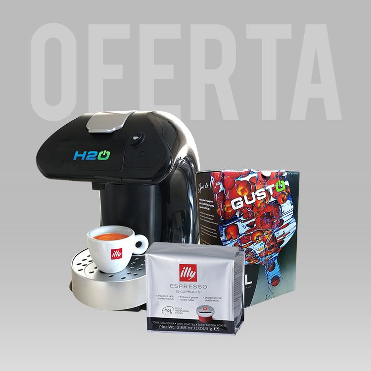 Oferta Espressor M4 + o cutie de cafea la alegere + suc natural GustOn 3L